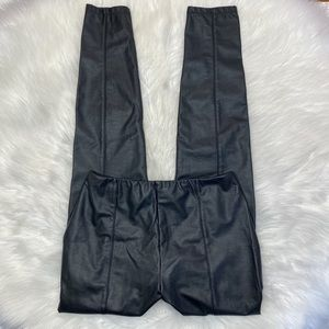 Lysse Faux Black Leather High Waisted Leggings